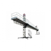 Plataforma elevadora sobre mástil