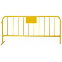 Valla tipo tráfico amarilla